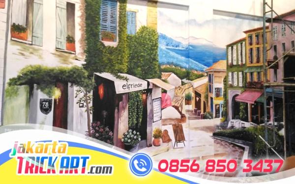 Lukisan 3 dimensi cp 0856 8503 437 0823 1637 6688 for Mural untuk cafe